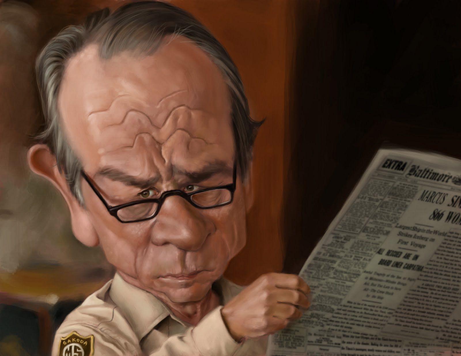 Caricatura de Tommy Lee Jones | Risa Sin Más