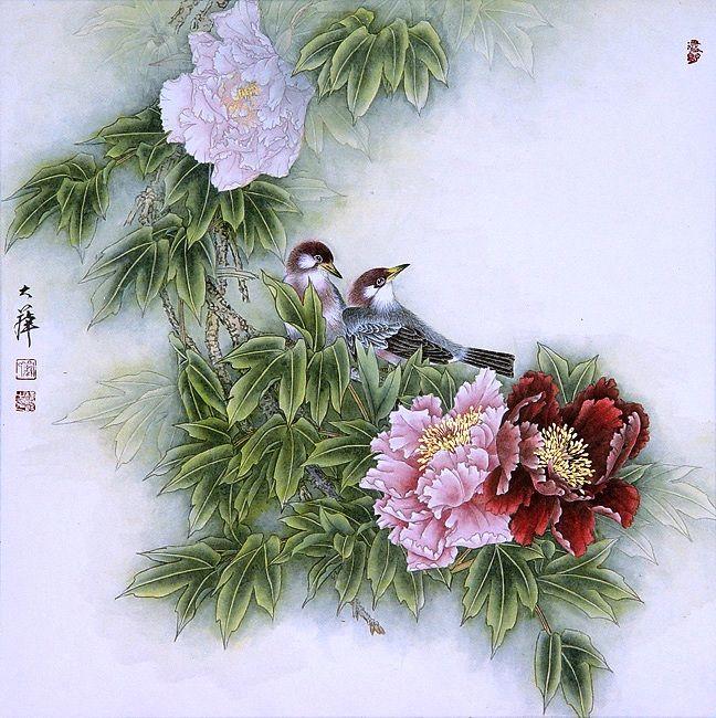 Андроид, китайские открытки с цветами