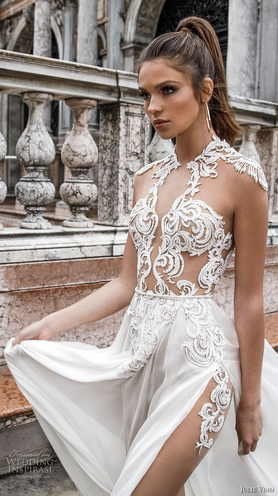 Julie Vino Spring 2018 Wedding Dresses Venezia Bridal Collection Bodice Wedding Dress And