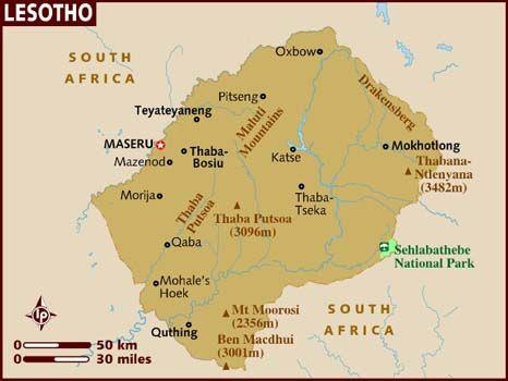 Lesotho Mapa Buscar Con Google LESOTOLesotho Maseru - maseru map