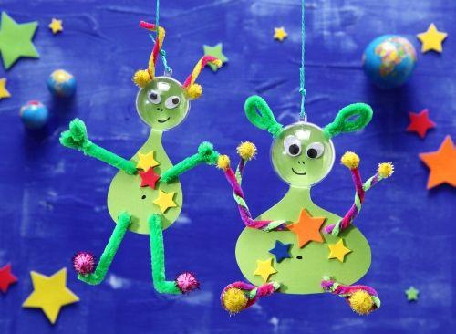Ausserirdische Monster Weltraum Kindergeburtstag Basteln Mit