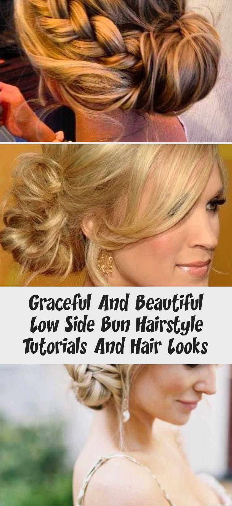 Graceful And Beautiful Low Side Bun Hairstyle Tutorials And Hair Looks #lowsidebuns