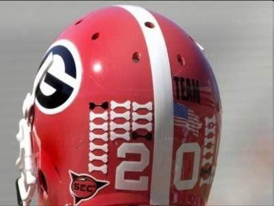 Georgia Bulldogs Football Helmet Dog Bones Award Decals Football