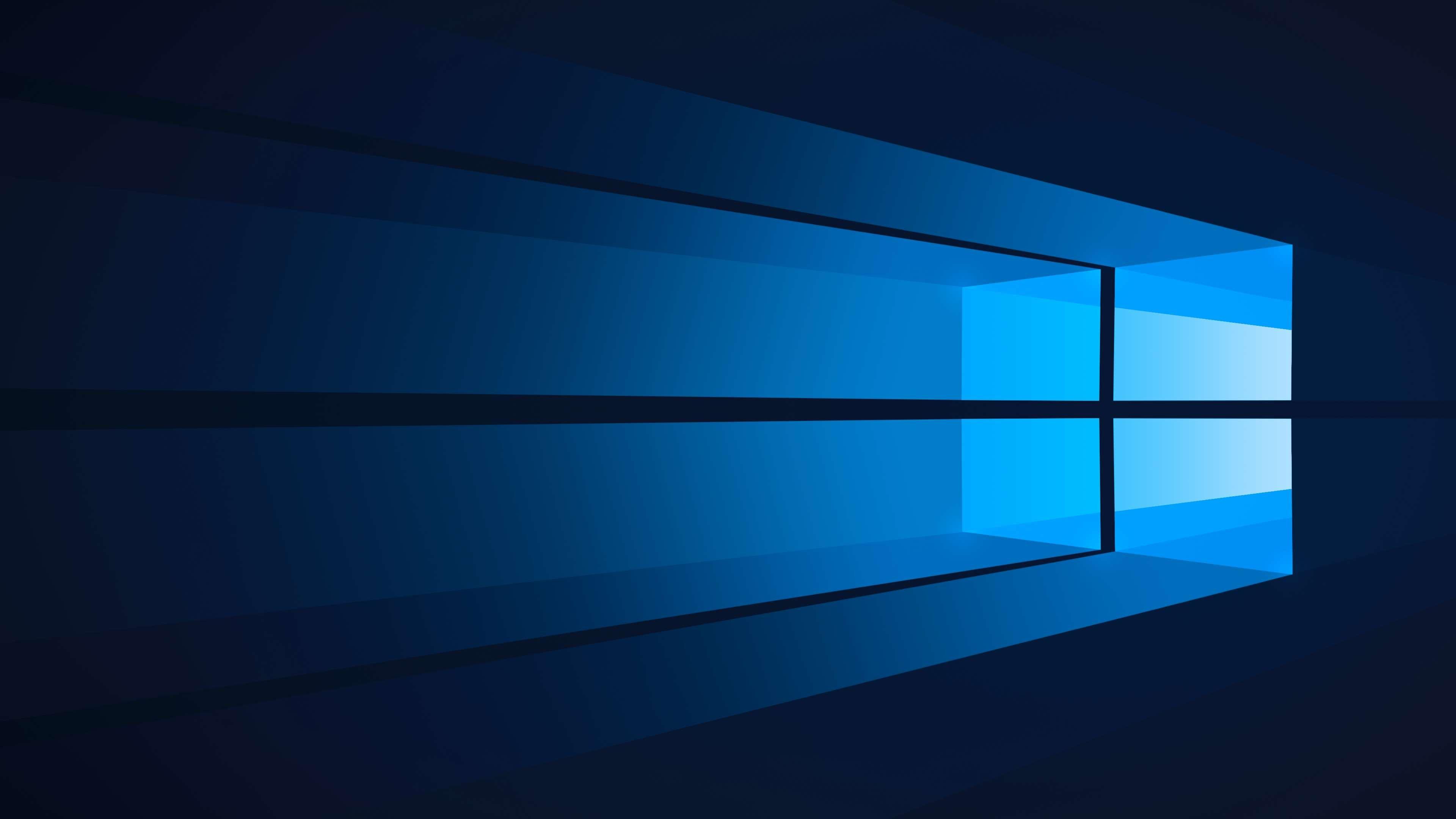 Windows 10 Blue Wallpaper 4k