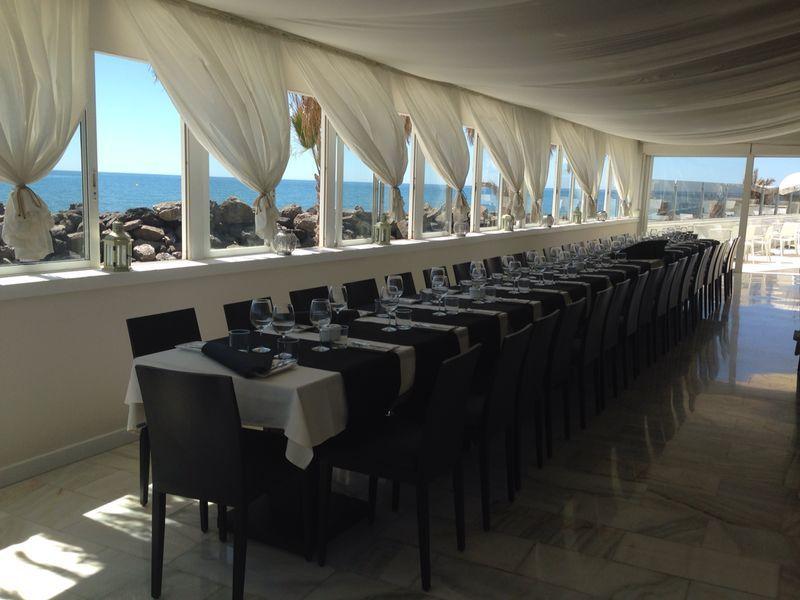 Se trata de nuestra terraza de cristal, ideal para cualquier tipo de evento.