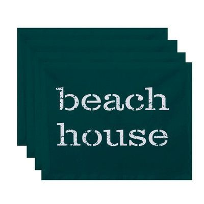 e by design Beach Vacation Beach House Word Placemat Color: