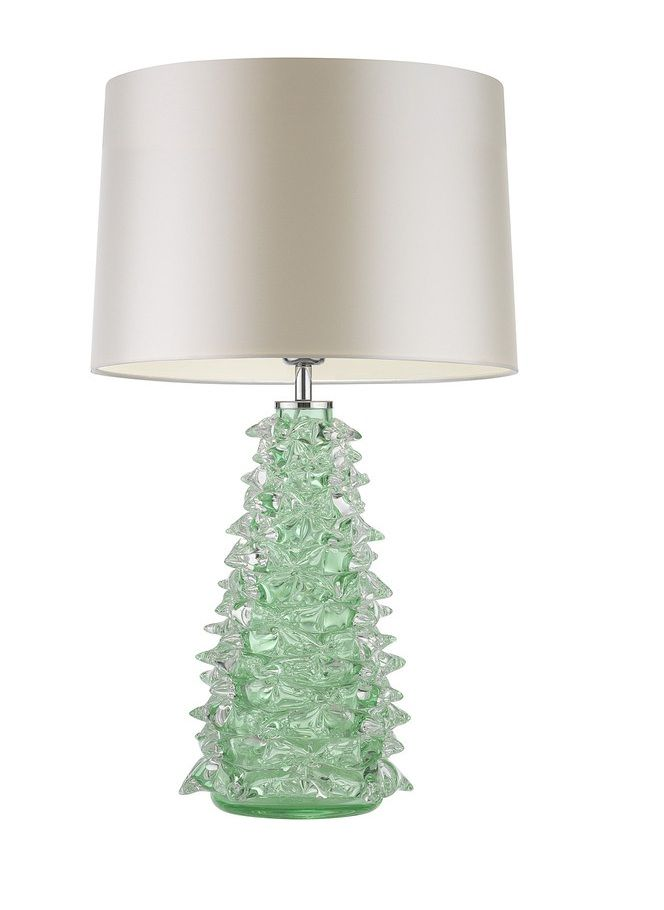 wonderful unique luxury glass home designs   Beautiful Designer Green Art Glass Table Lamp Inspiring ...