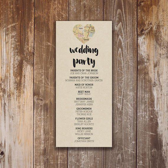 Printable Wedding Program Ian Collection Digital PDF