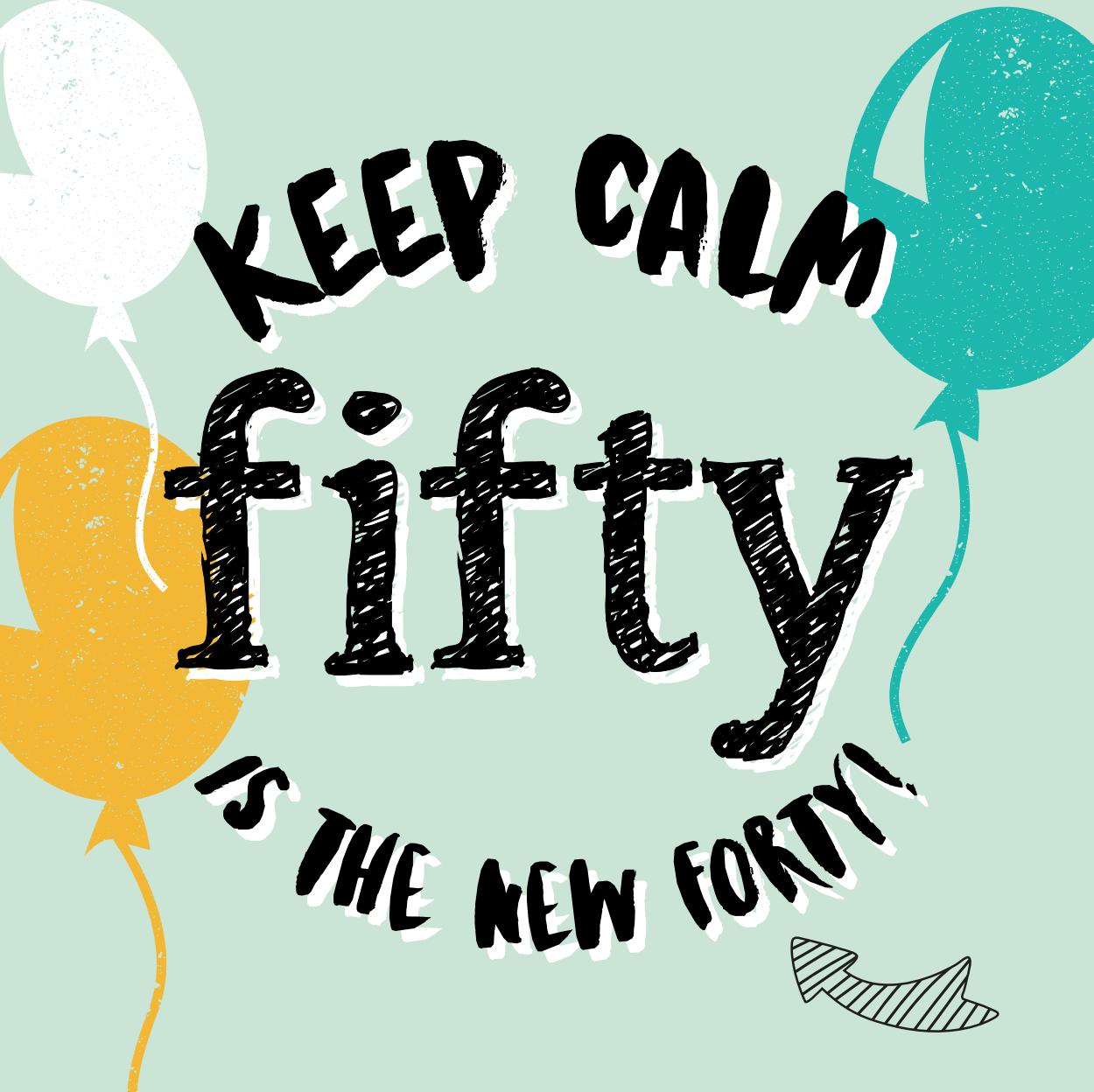 Goede Uitnodiging 50 jaar met ballon en feestelijke tekst (met UK-93