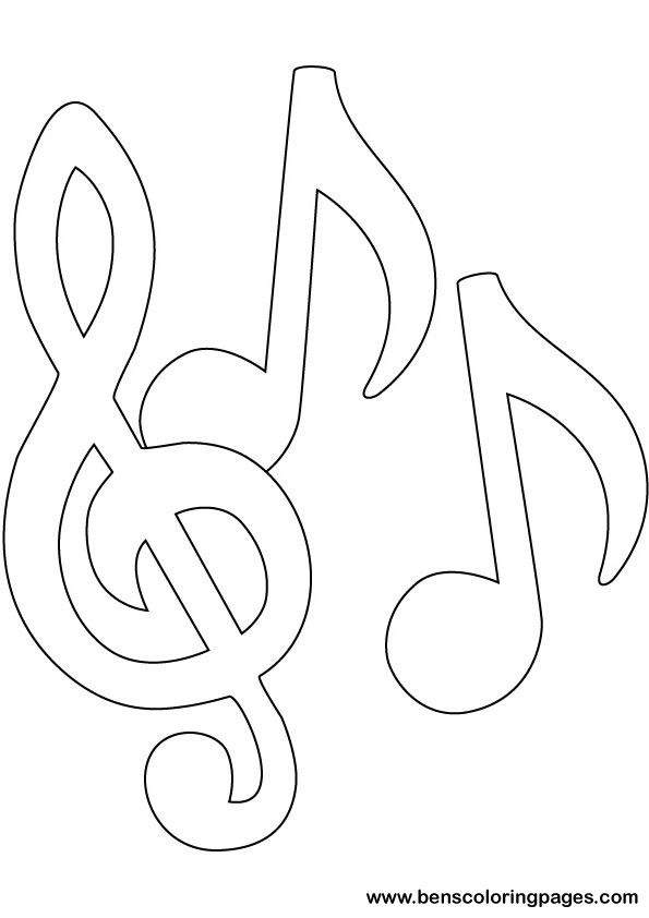 music coloring pages music notes coloring pages