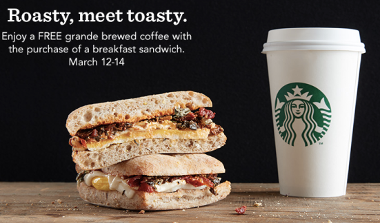 Starbucks FREE Grande Coffee Today & Friday 3/14