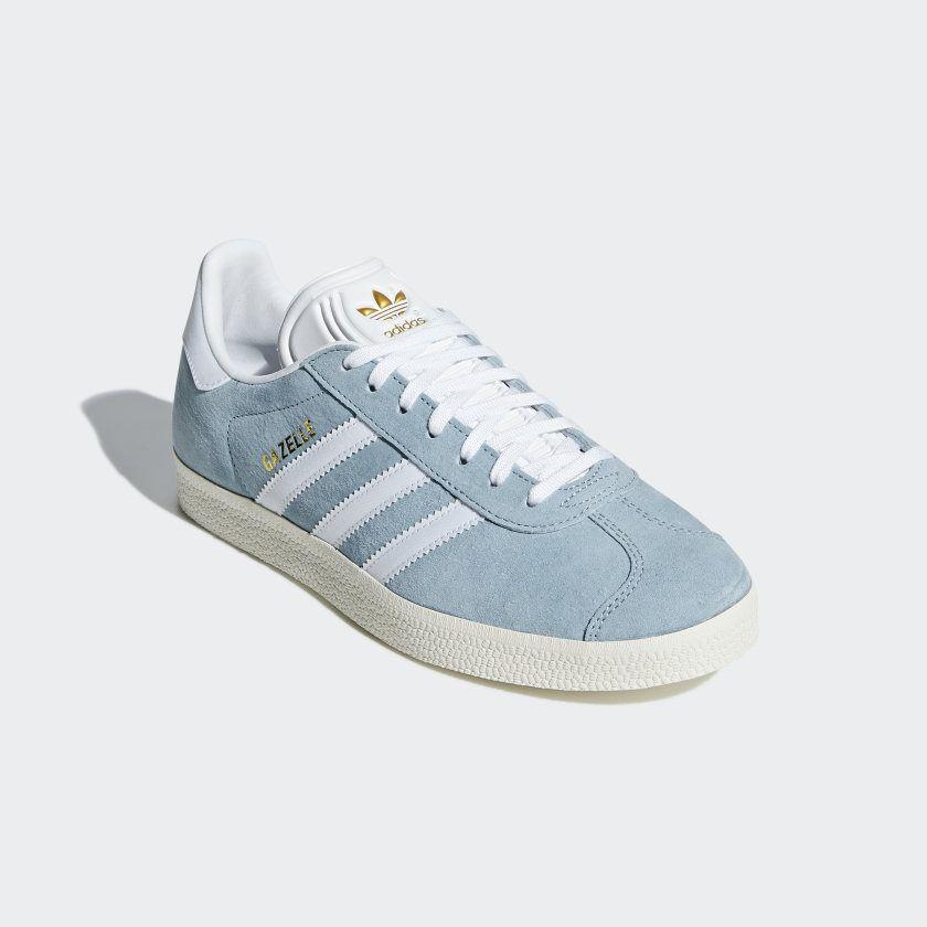 Dormido Crítico bar  Gazelle Shoes Ash Grey / Cloud White / Chalk White CG6061 | Grey adidas,  Sneakers, Shoes