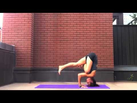 this is an advanced asana sequence for yogis who can