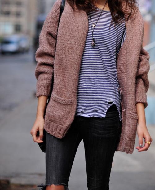#stripes, #streetstyle, #knit, #sweater