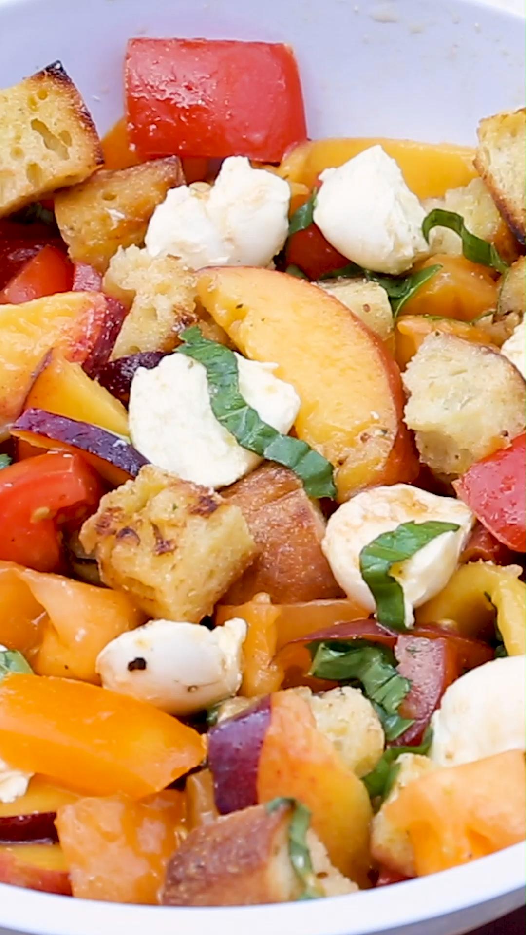 Photo of Camp Recipe: Peach Panzanella Salad