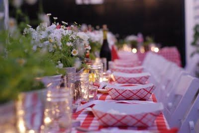 Gingham table setting by Annie Campbell of Apres Fete   Event Table ...