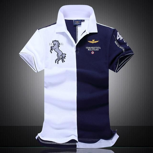 d593bbf0 NEW Summer new men's boutique embroidery breathable 100% cotton polo shirt  lapel Men's Air Force One polo shirt size M-XXL