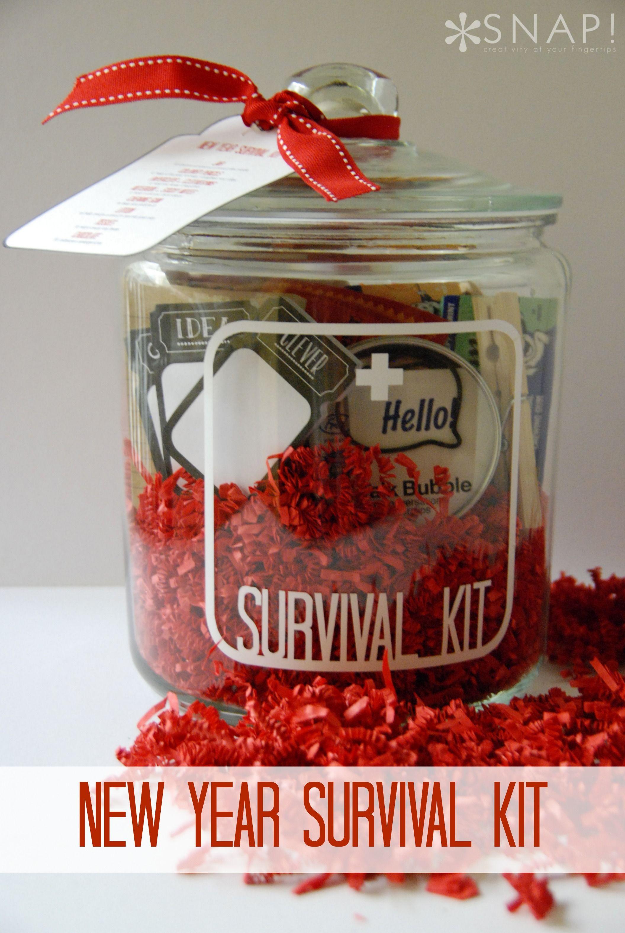 Diy New Years Survival Kit Survival Kit Gifts Secret