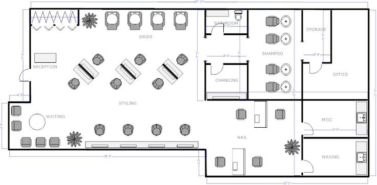 Salon floor layout google search salon project for Design a beauty salon floor plan