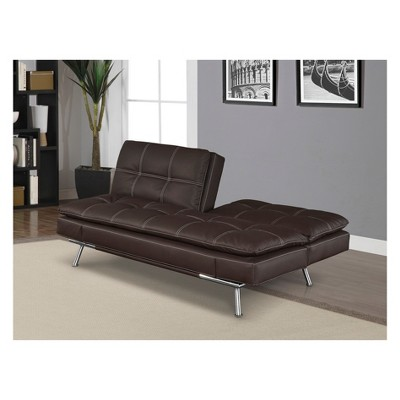 Tremendous Morgan Bonded Leather Double Cushion Convertible Sofa In Bralicious Painted Fabric Chair Ideas Braliciousco