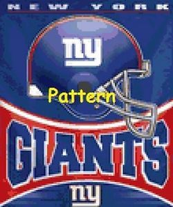 premium selection 69426 337ca NEW York Giants Helmet Cross Stitch Pattern Paper Version OR ...