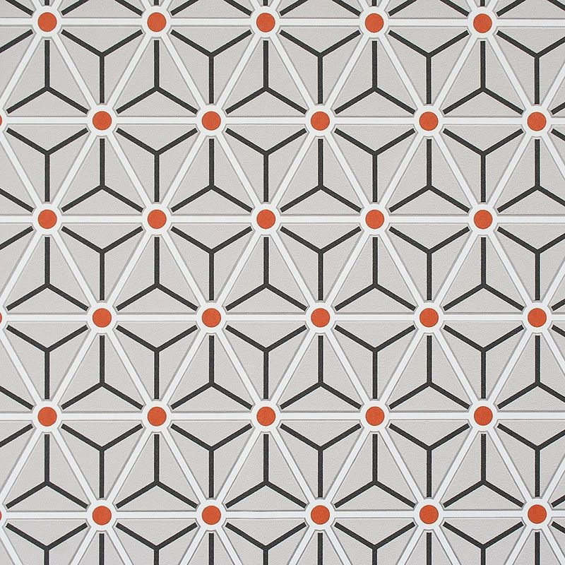 Large Geometric Pattern Taupe And Orange Google Search