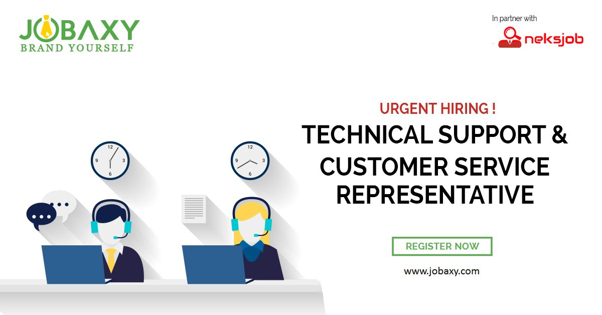 Grab This Opportunity And Be A Customer Service Representative Or