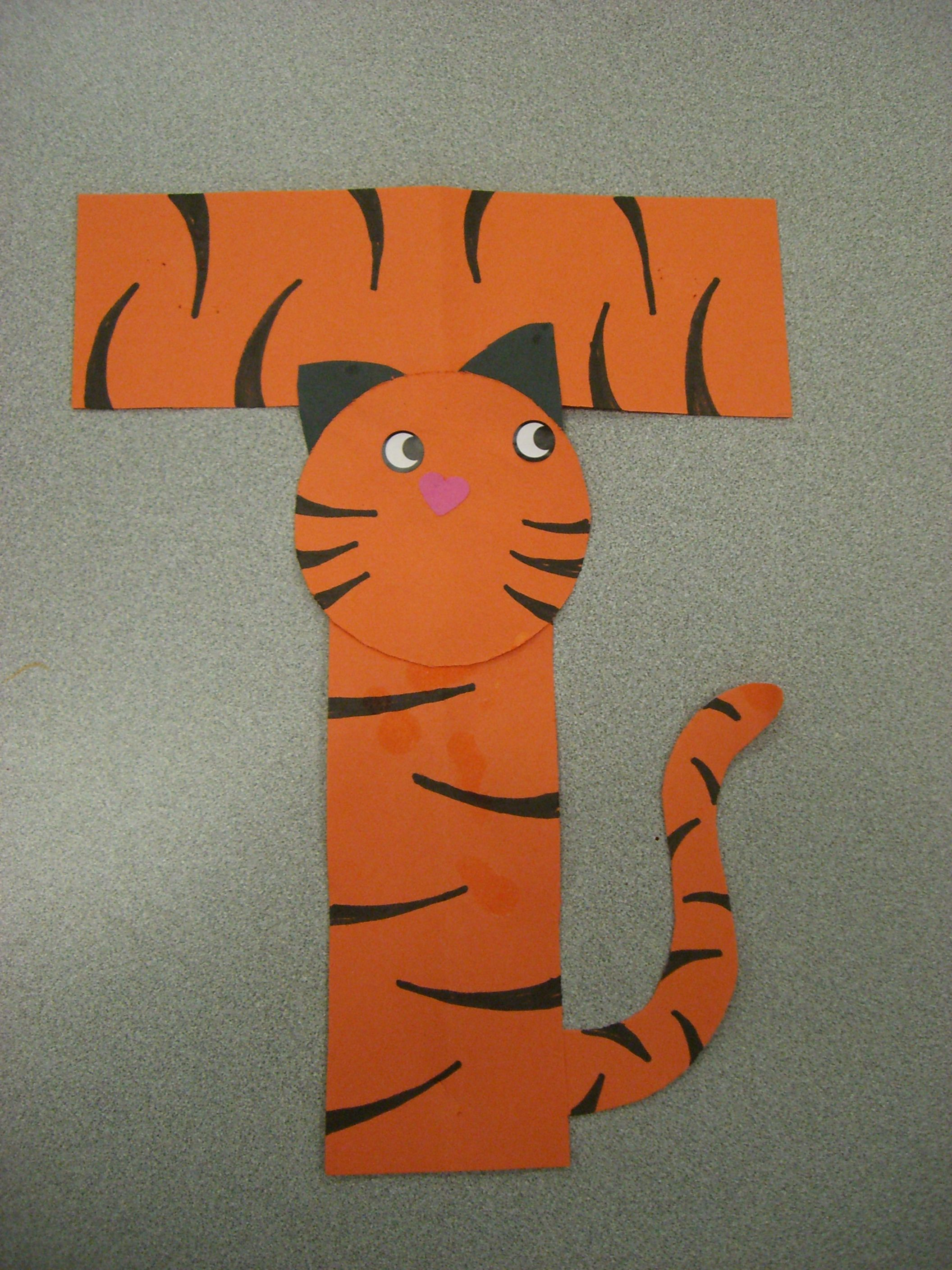 T Is For Tiger Preschool Alphabet Craft