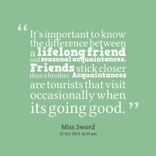 Friend vs acquaintance quotes