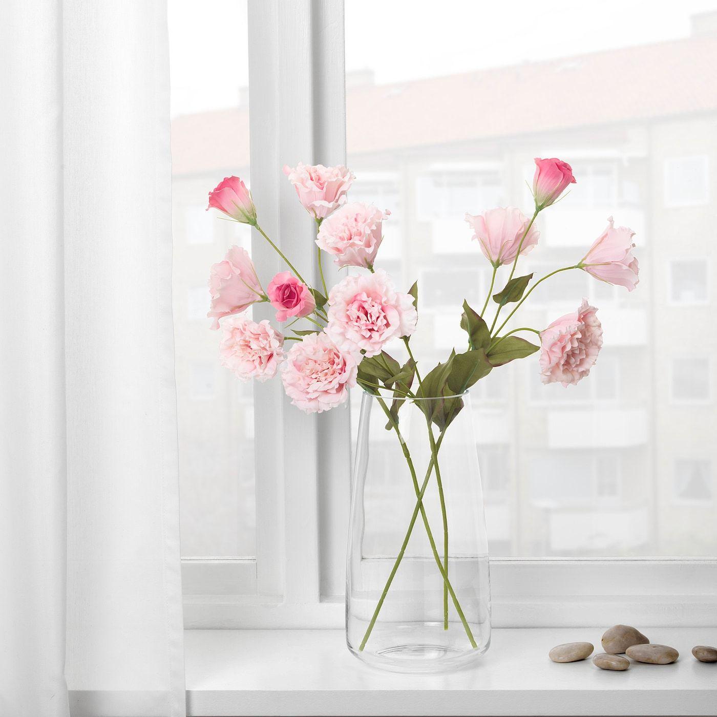 """Branche Fleur De Coton smycka artificial flower - lisianthus, pink 23 ½ """" in 2020"""