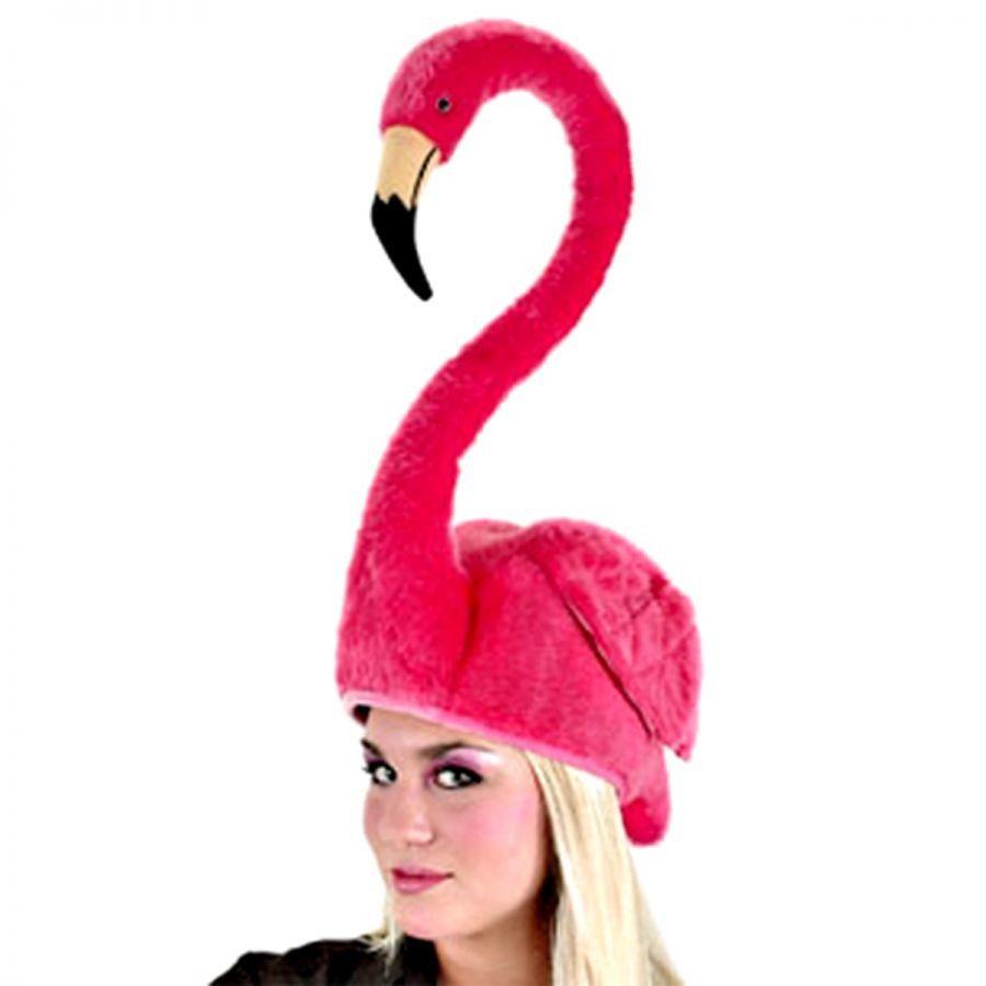 Ladies Flamingo Headband Adults Pink Bird Animal Fancy Dress Novelty Accessory