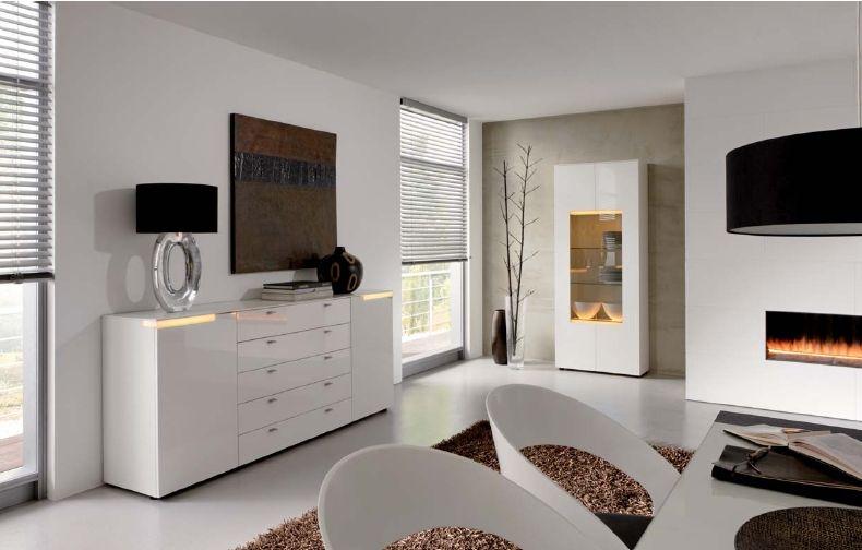 Wohnidee Möbel mit Beleuchtung helle Wohnzimmer, Moderne - moderne wohnzimmereinrichtungen