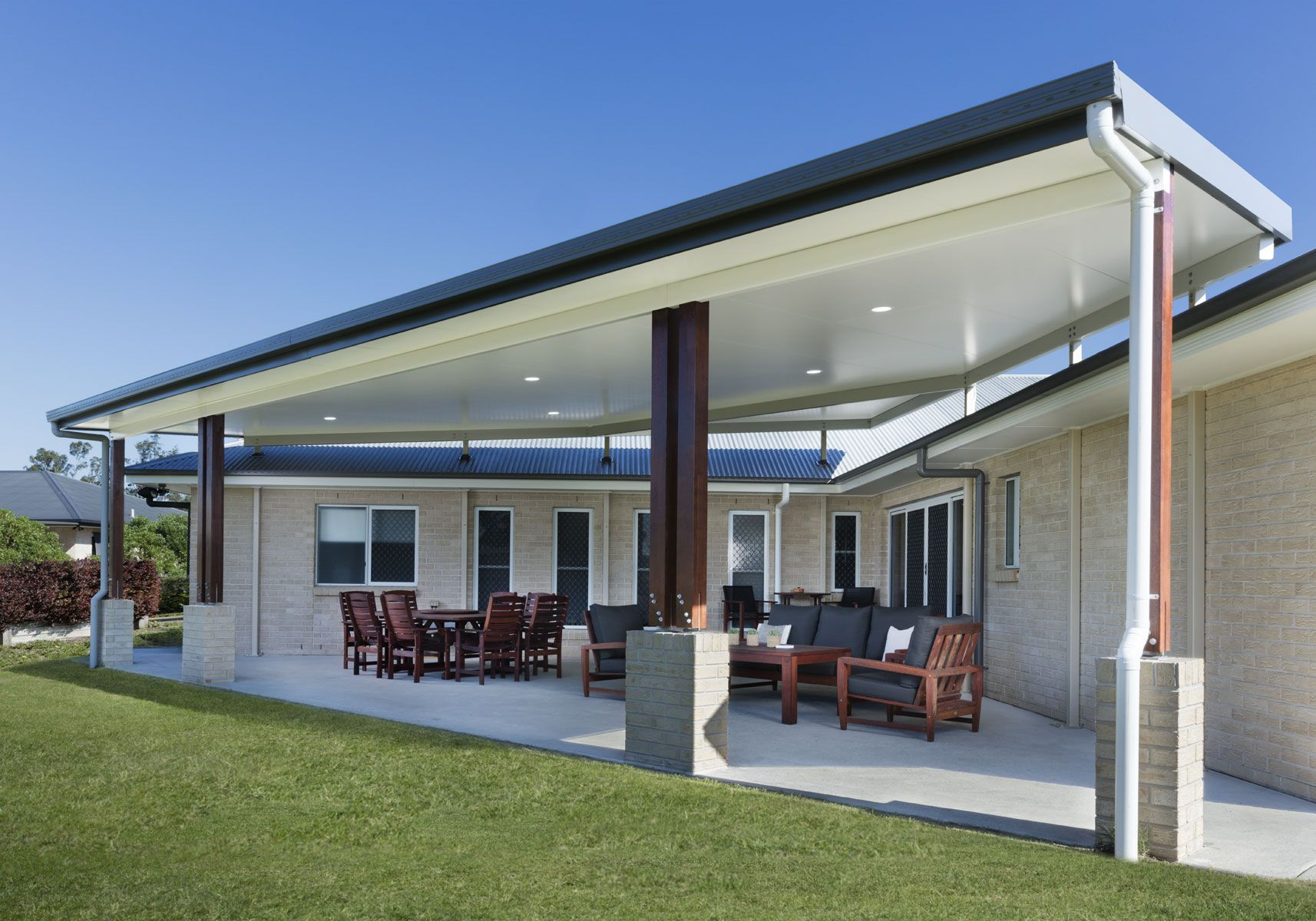 Cooldek Roofing Stratco Patio Design Patio Deck Designs Pergola