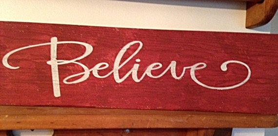 believe christmas sign wood sign holiday by customandreclaimed