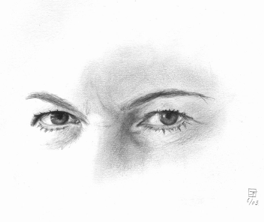 eyes sketch of a pair of eyes by emily r feingold sketches art