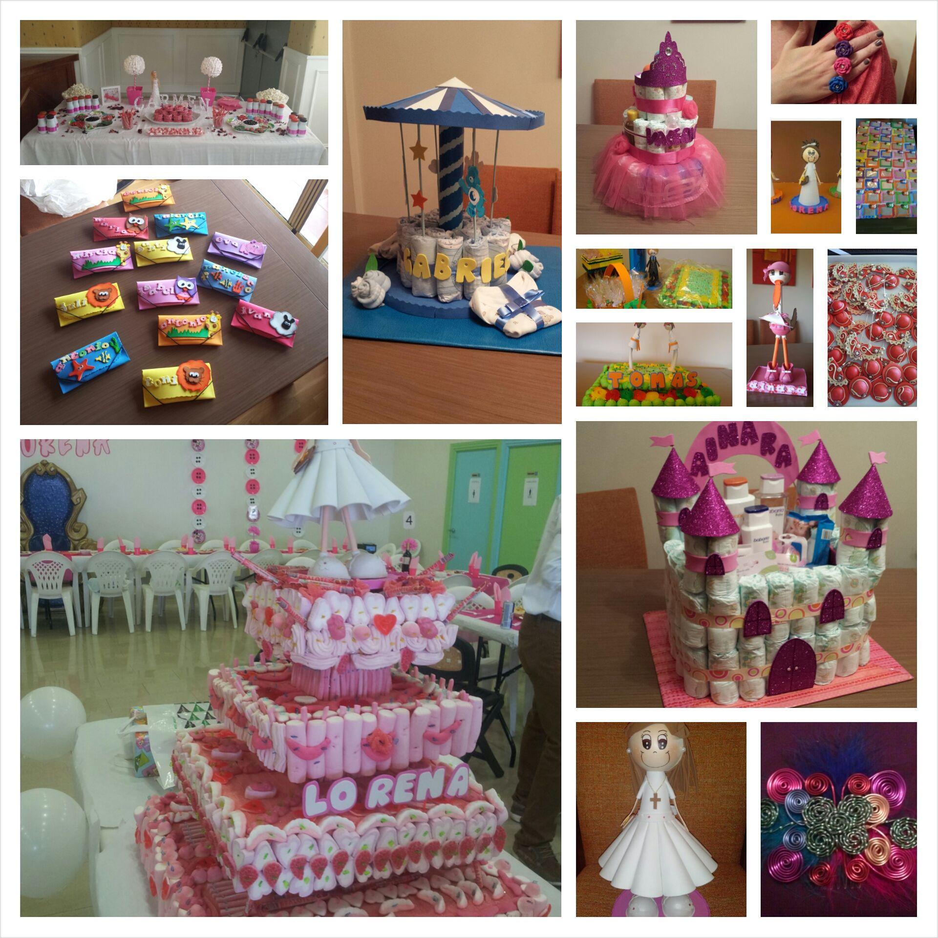 Goma eva fimo tartas de pa ales fofuchas tocados para - Detalles decoracion boda ...