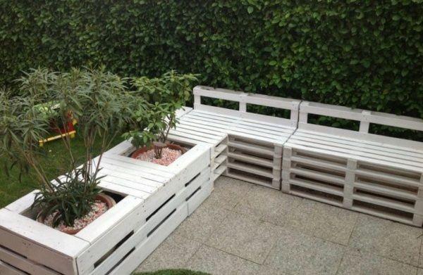 banc de palettes de bois - Mobilier De Jardin En Palette De Bois