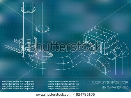 Construction drawings 3d metal construction pipes piping cover construction drawings 3d metal construction pipes piping cover background for text malvernweather Image collections