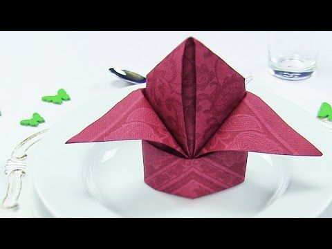 Fabulous Servietten falten: Schmetterling - Deko Ideen basteln mit Papier MS09