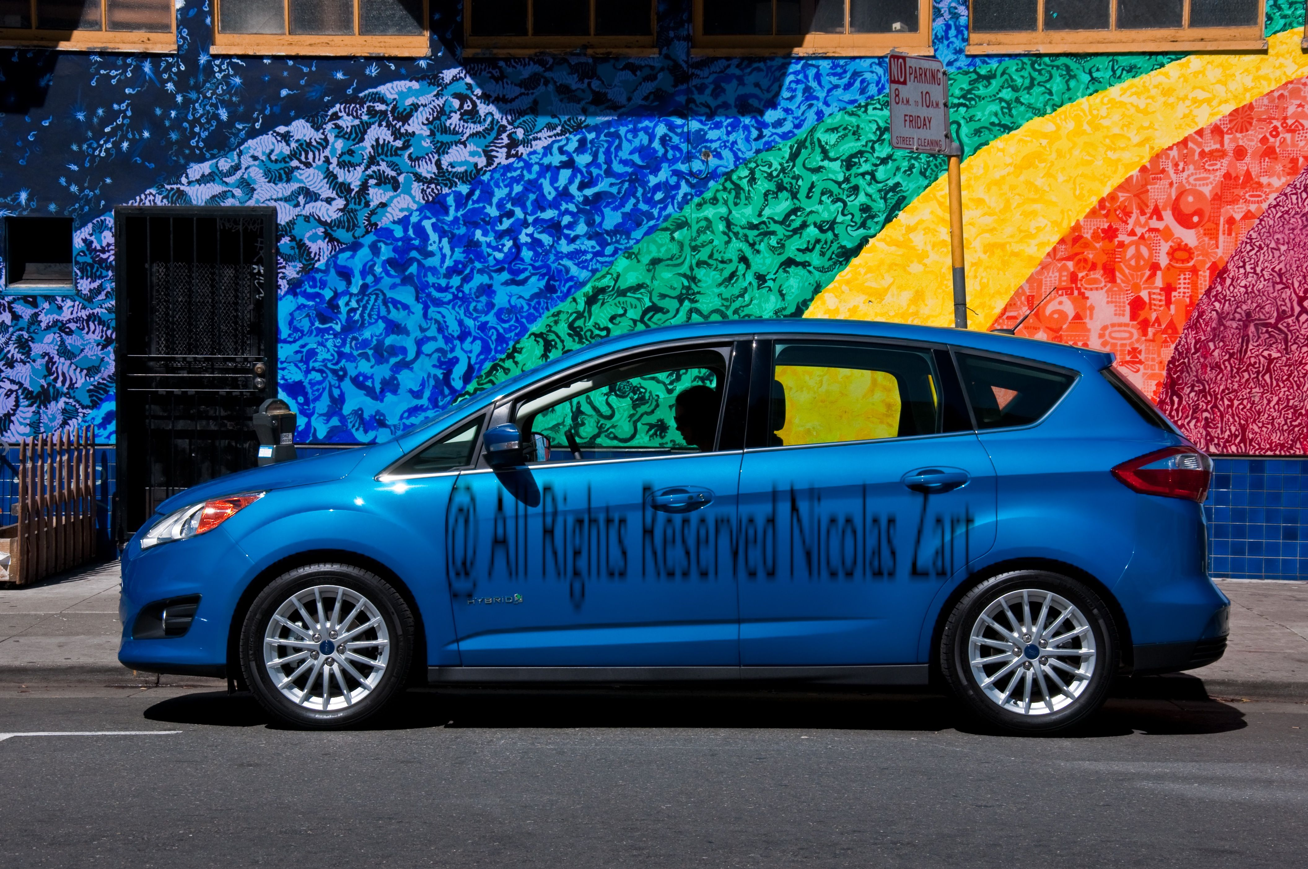 The Ford C Max Hybrid Candy Blue And Psychedelic San Francisco