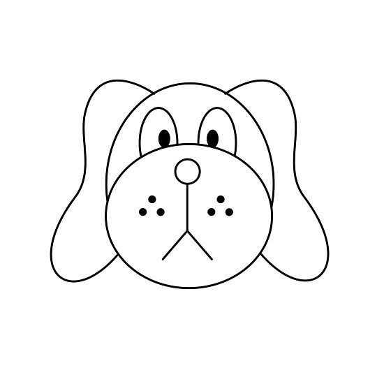 Draw A Dog Face Dog Face Drawing Easy Drawings Dog Drawing