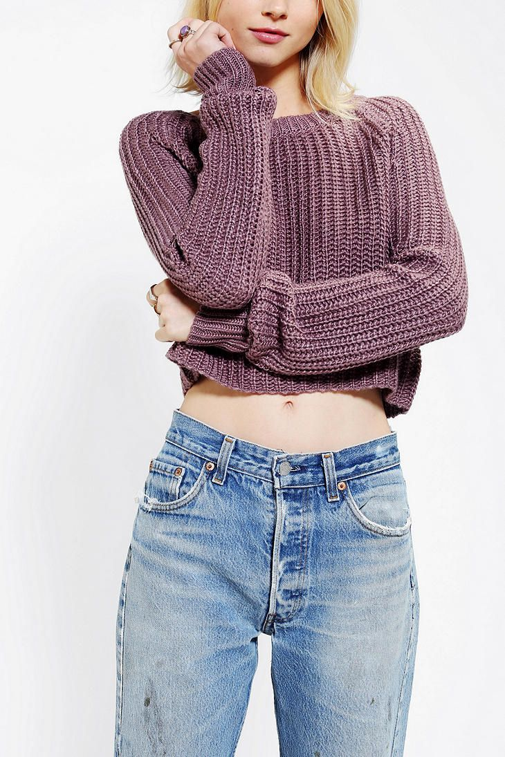 Kimchi Blue Shaker Cropped Sweater Urban Outfitters Clothes