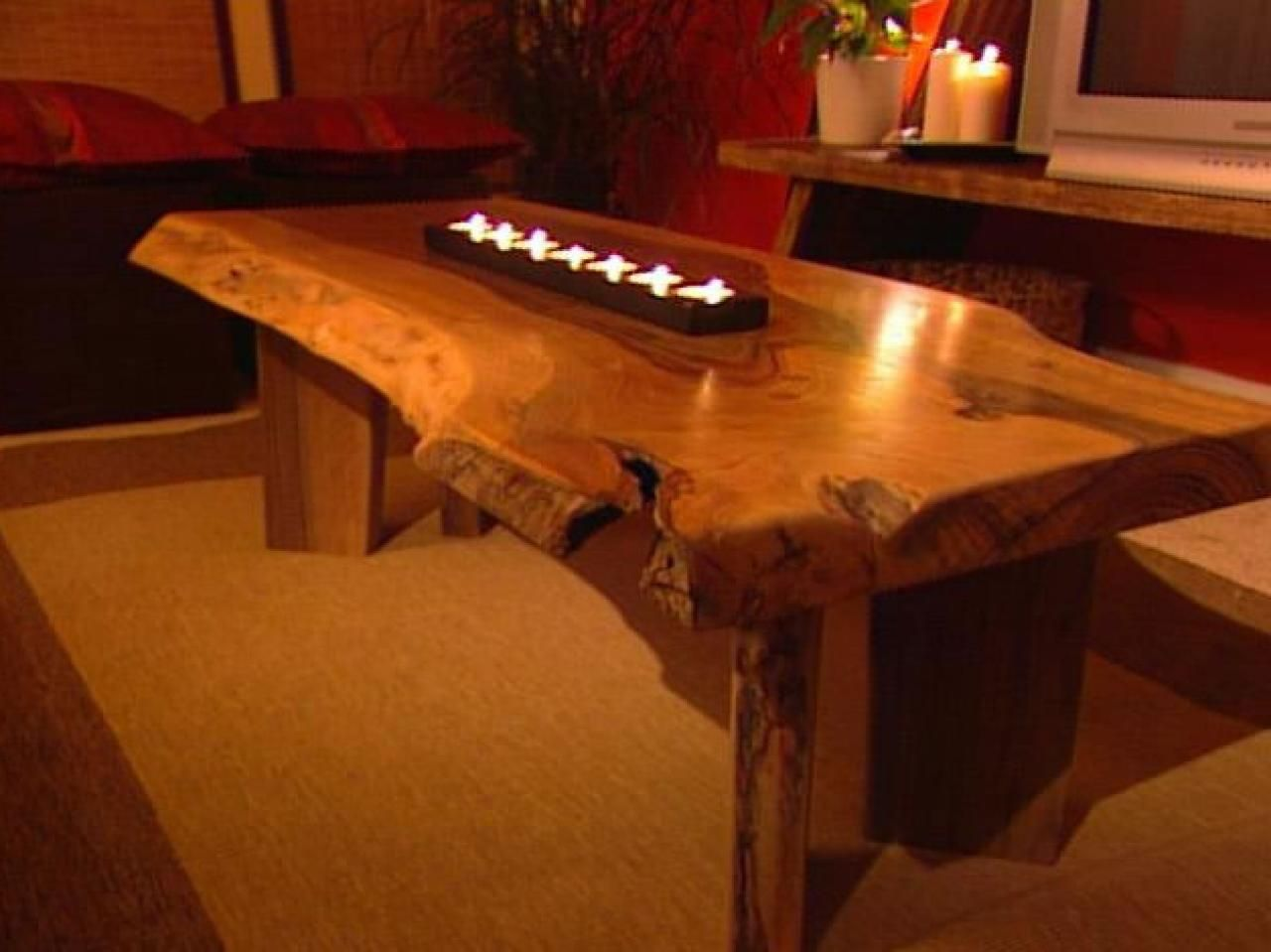 Build A Walnut Slab Coffee Table Living Room And Dining Decorating Ideas Design Hgtv