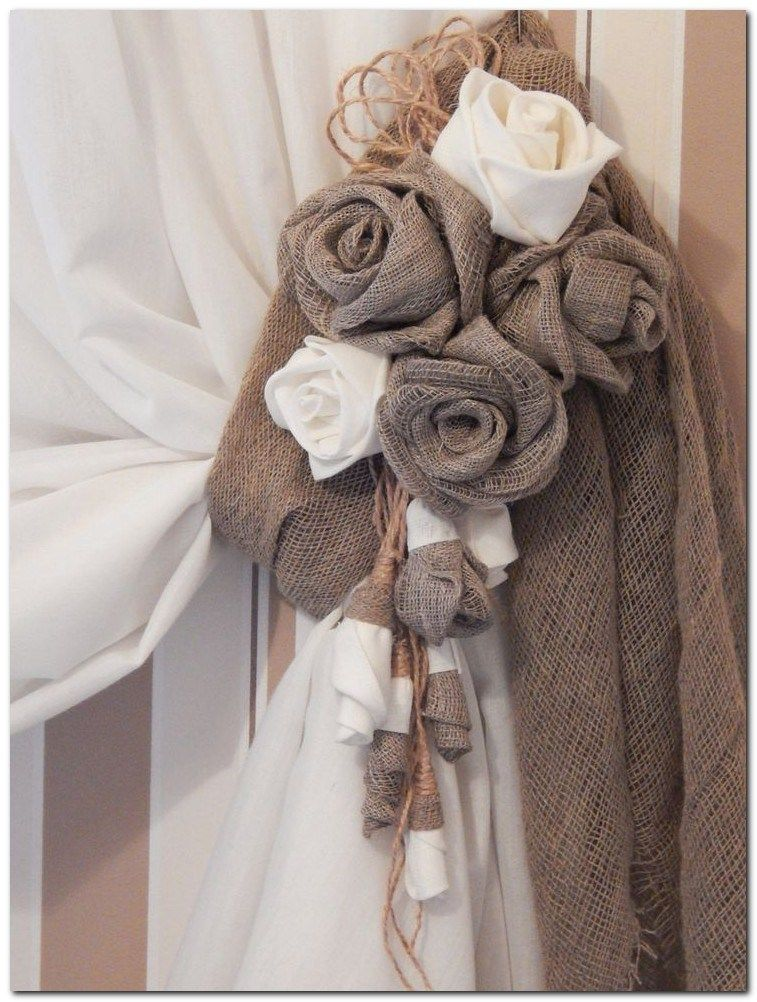 Visit The Post For More French In 2019 Handmade Home Decor Rustic Curtains Flower Curtain