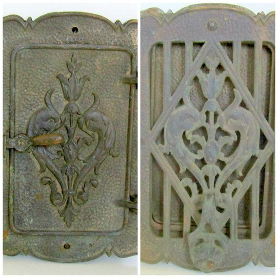 Art Nouveau Door Knocker Brass Peephole Window Door Speakeasy Ste&unk Peep Hole & Art Nouveau Door Knocker Brass Peephole Window Door Speakeasy ...