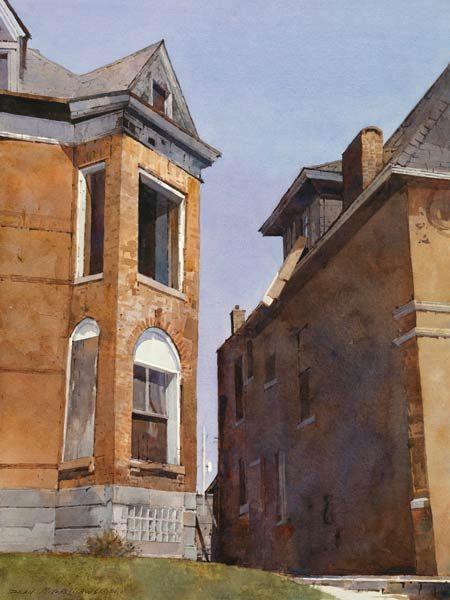 Dean Mitchell. Urban Mass, watercolor