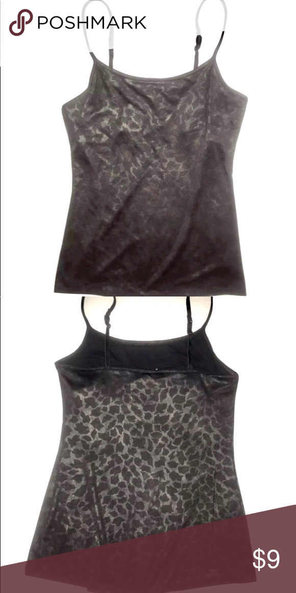 2d7a29675d Express Animal Print Tank Pre-owned Express Animal Print StretchTank Top  Built In Shelf Bra