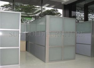 Popular Cheap Office Used Low Half Glass Wall Partition (SZ WS587)