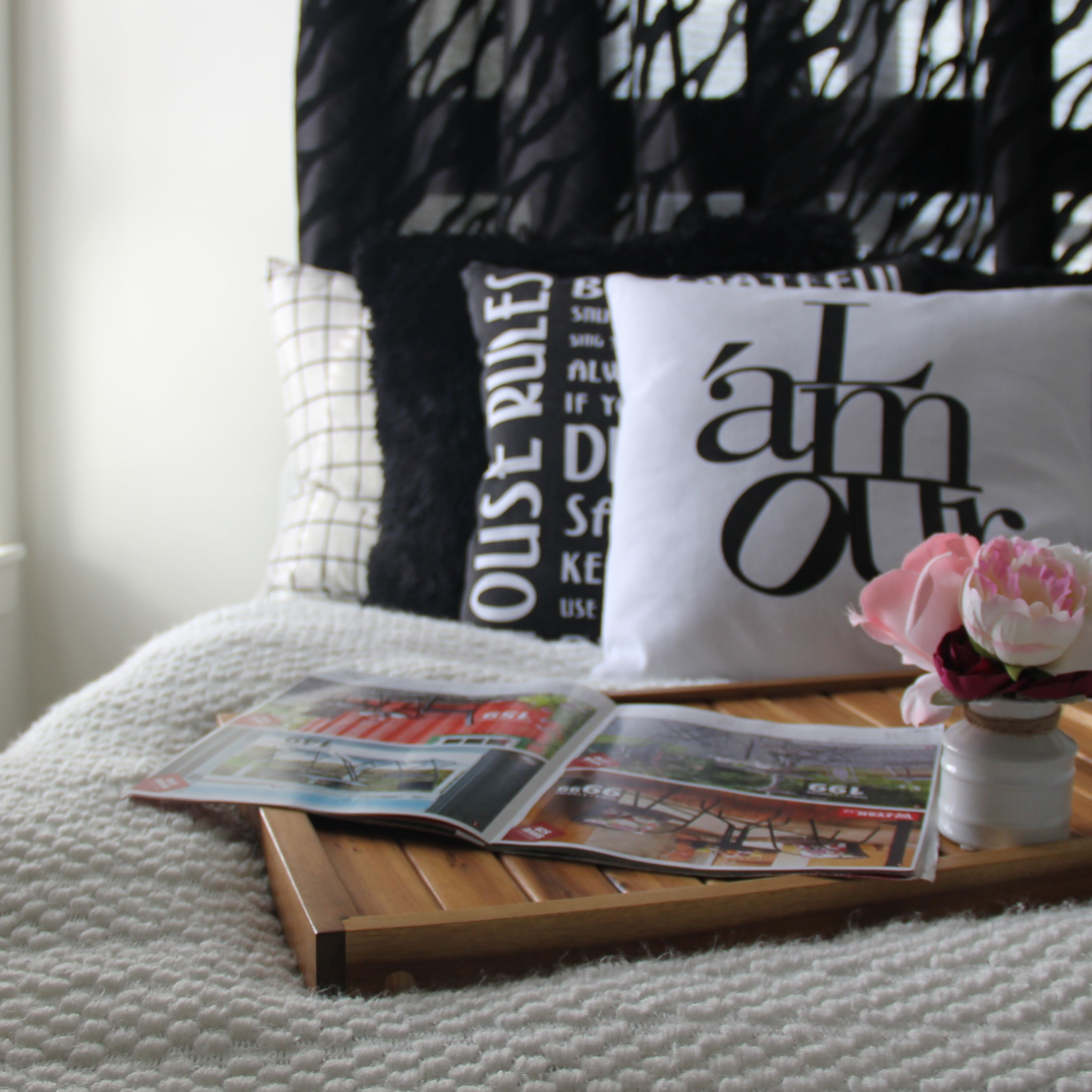 Adding decorative pillows to the bedroom is a great way to give your bedroom a new look.
