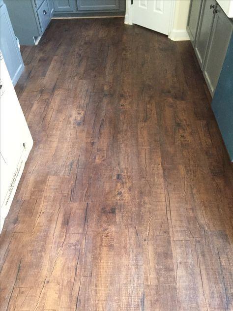 Mohawk Luxury Vinyl Plank In Chocolate Barnwood Home